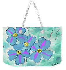 Blue Weekender Tote Bag by David Jackson