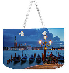 Weekender Tote Bag featuring the photograph Blue Dawn Over Venice by Brian Jannsen