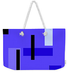 Blue Design 1 Vertical Weekender Tote Bag