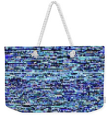 Blue Digital Noise Weekender Tote Bag
