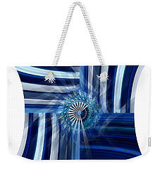 Blue Dimension  Weekender Tote Bag by Thibault Toussaint