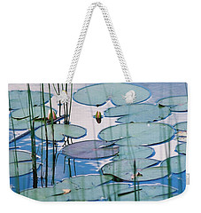 Weekender Tote Bag featuring the photograph Blue Dreams by Doris Potter