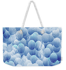 Weekender Tote Bag featuring the photograph Blue Eggs - Abstract Background by Michal Boubin