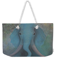 Blue Elephant Weekender Tote Bag by Tone Aanderaa