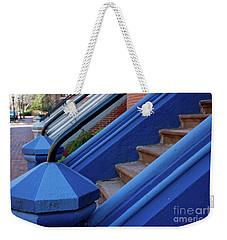 Blue Entry Weekender Tote Bag