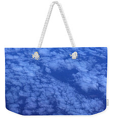 Weekender Tote Bag featuring the photograph Blue by Erika Chamberlin