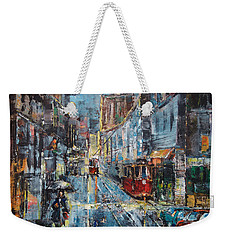 Blue Evening Weekender Tote Bag