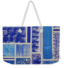 Blue Expo Weekender Tote Bag