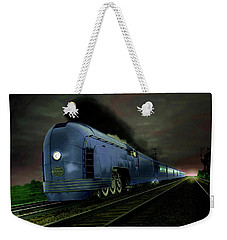 Blue Express Weekender Tote Bag