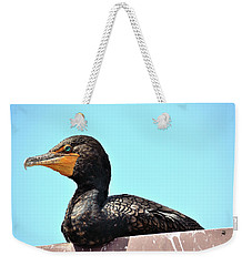 Weekender Tote Bag featuring the photograph Blue Eye by Richard Ortolano