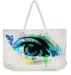 Blue Eye Watercolor Weekender Tote Bag