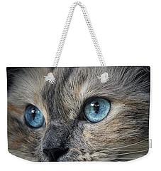 Blue Eyed Girl Weekender Tote Bag by Karen Stahlros