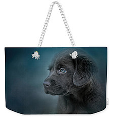 Blue Eyed Puppy Weekender Tote Bag