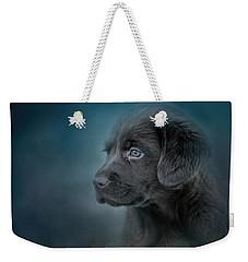 Blue Eyed Puppy Weekender Tote Bag