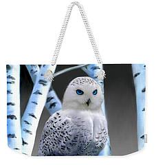 Blue-eyed Snow Owl Weekender Tote Bag