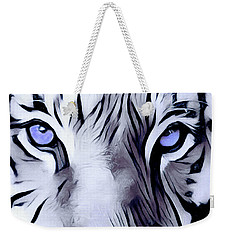 Blue Eyed Tiger Weekender Tote Bag