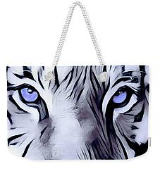 Blue Eyed Tiger Weekender Tote Bag
