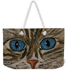 Blue Eyed Tiger Cat Weekender Tote Bag
