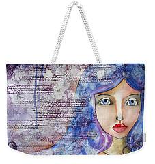 Blue Eyes Weekender Tote Bag