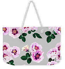 Blue Eyes Roses Weekender Tote Bag by Emanuela Carratoni