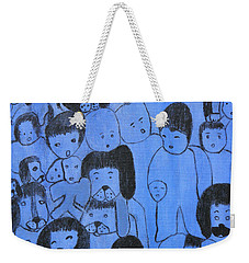Blue Faces Weekender Tote Bag