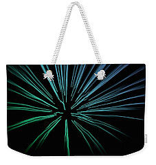 Weekender Tote Bag featuring the photograph Blue Firework by Chris Berry