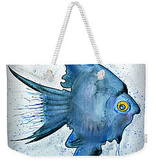 Weekender Tote Bag featuring the photograph Blue Fish by Walt Foegelle