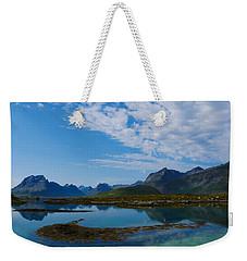 Blue Fjord Weekender Tote Bag by Tamara Sushko