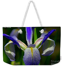 Blue Flag Iris Weekender Tote Bag