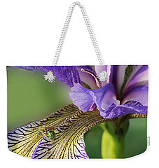 Weekender Tote Bag featuring the photograph Blue Flag  by Susan Capuano