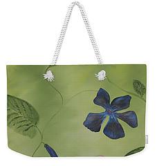 Blue Flower On A Vine Weekender Tote Bag