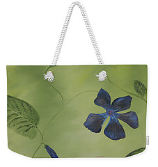 Blue Flower On A Vine Weekender Tote Bag