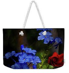 Blue Flowers Growing Up The Apple Tree Weekender Tote Bag