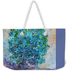 Blue Flowers In A Vase Weekender Tote Bag