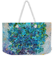 Blue Flowers In A Vase Weekender Tote Bag