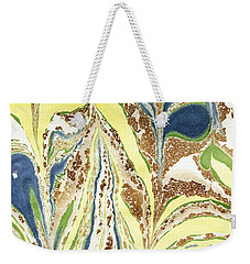 Blue Flowers In Spring Weekender Tote Bag by Menega Sabidussi