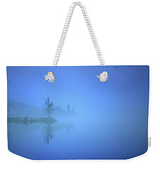 Weekender Tote Bag featuring the photograph Blue Fog At Skaha Lake by Tara Turner