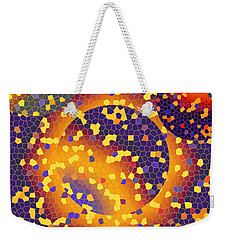 Weekender Tote Bag featuring the digital art Blue Galaxy by Lynda Lehmann