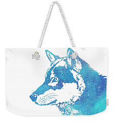 Blue Galaxy Wolf Weekender Tote Bag