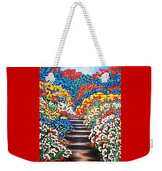 Chloe The   Flying Lamb Productions        Blue Garden Cascade Weekender Tote Bag