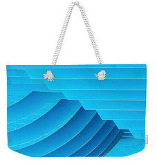 Blue Geometric Abstract 1 Weekender Tote Bag
