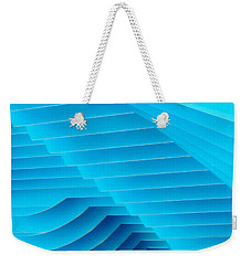 Blue Geometric Abstract 2 Weekender Tote Bag