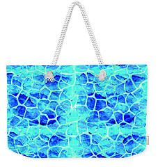 Blue Giraffe Print Weekender Tote Bag