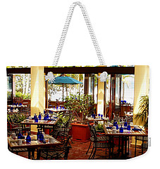 Blue Glass Settings Weekender Tote Bag