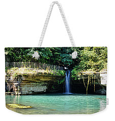 Weekender Tote Bag featuring the photograph Blue Glory by Cricket Hackmann