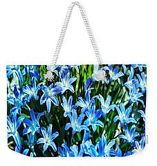 Blue Glory Snow Flowers  Weekender Tote Bag