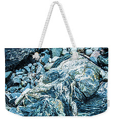 Weekender Tote Bag featuring the photograph Blue Gnome Rock by Daniel Hebard