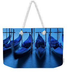 Weekender Tote Bag featuring the photograph Blue Gondolas by Brian Jannsen
