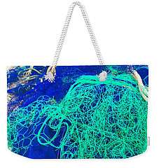 Blue Green Art Weekender Tote Bag by Colette V Hera Guggenheim