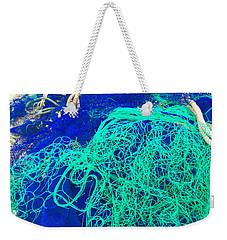 Blue Green Art Weekender Tote Bag